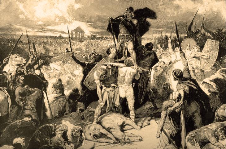 So stellte man sich Anfang des 20. Jhd die spätbronzezeitlichen Mitteleuropäer vor.